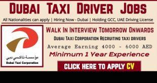 Dubai Taxi Jobs 2020